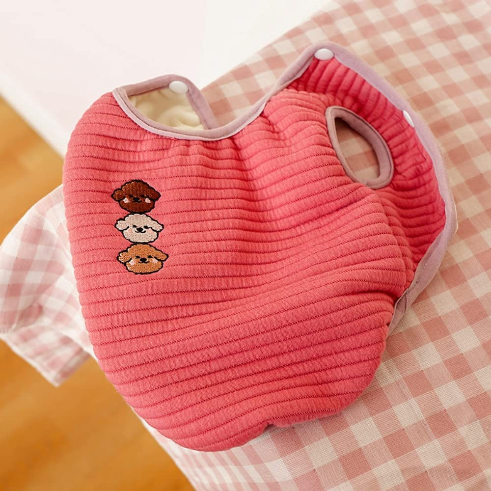 botlav Small Dog Quilted Jacket Fleece Max 56% OFF Cat Sweater Wa Vest Import Puppy