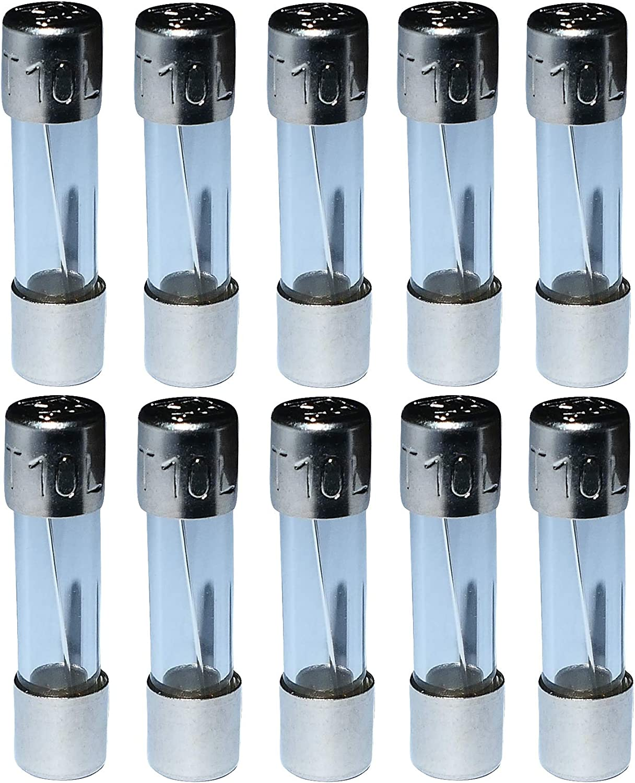 Aerzetix C10959 10 X Glassicherungen Glasrohr Sicherungen Verzögert Langsam 2cm 5x20mm 220v 250v 0 8a 800ma Auto