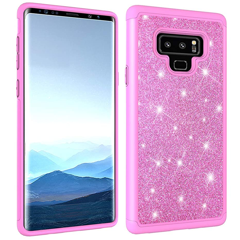 Galaxy Note 9 Case, Dooge Luxury Glitter Sparkle Shiny Bling Note 9 Case Dual Layer Full-Body Heavy Duty Armor Defender Shockproof Protective Cover Case for Girls Women for Samsung Galaxy Note 9