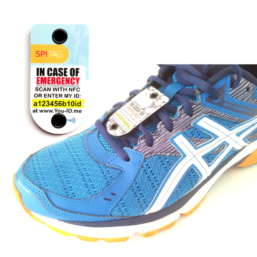 spitag emergencia ID etiqueta de alerta y para correr, ciclo, de los niños, Atletas, triatlón Zapatillas, calzado, Instructores – otros colores disponibles – véase la tienda de Amazon: Amazon.es: Deportes y aire
