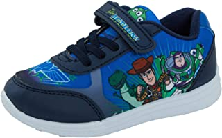 Boys Black Disney Toy Story Light Up School Shoes Trainers