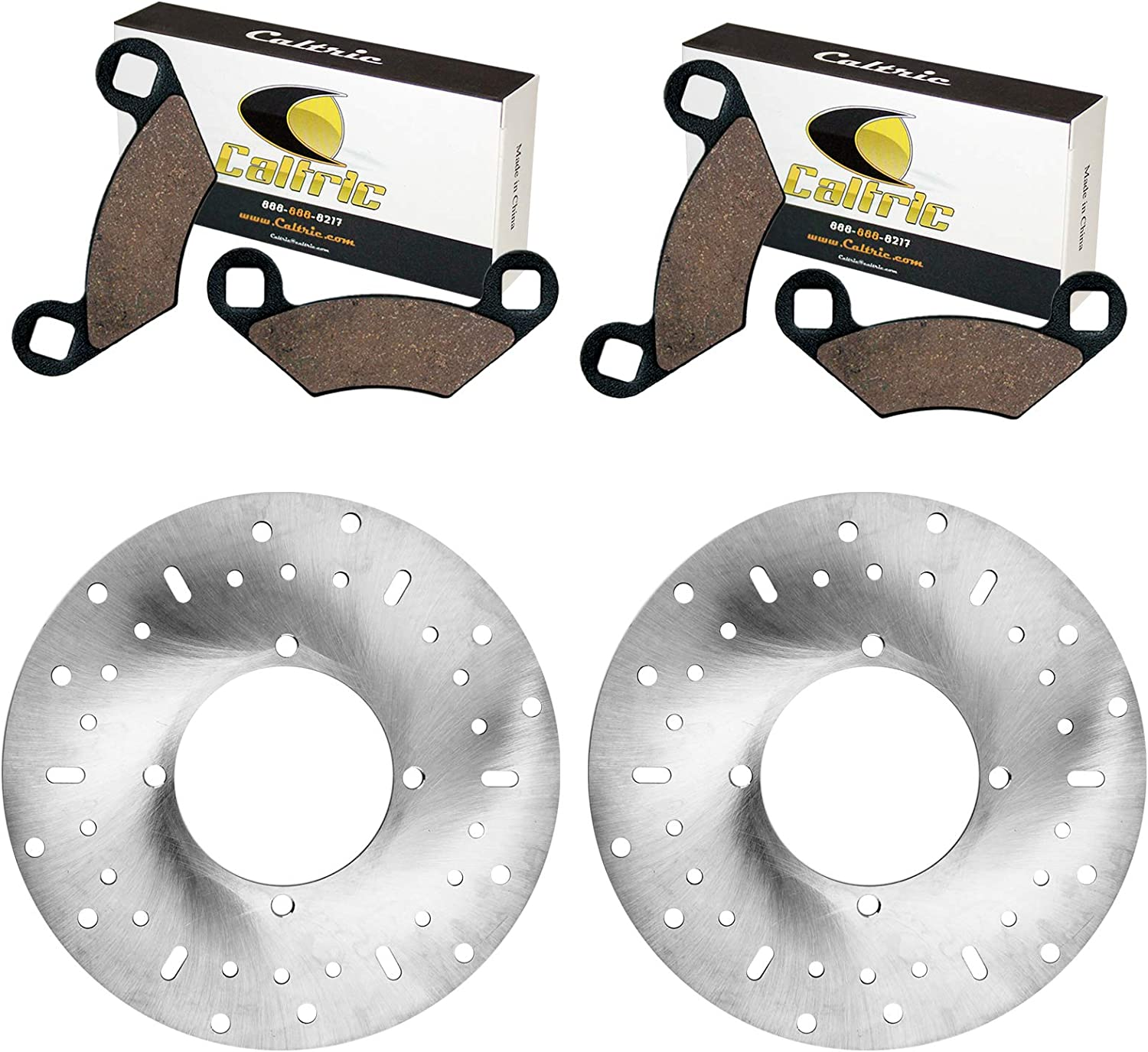 Caltric 2 Front Brake Disc Rotor Pads Polari Excellent And Compatible Reservation with