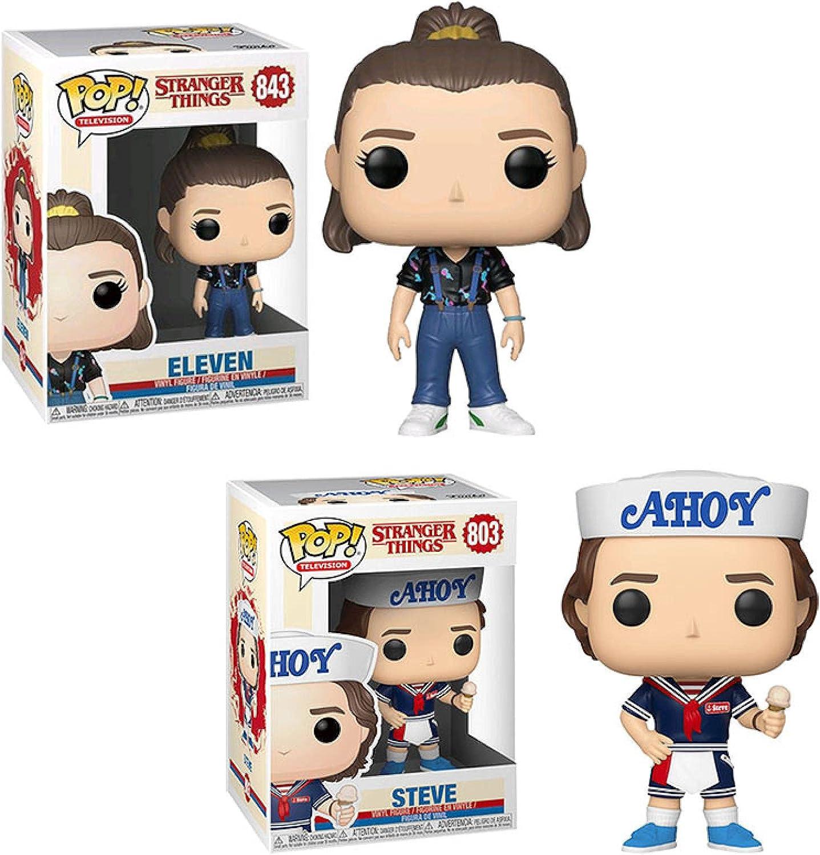 Sacramento Mall 2Pcs Stranger Things Action Figure Toys w #843 Steve Eleven #803 [Alternative dealer]