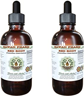 Red Root Alcohol-Free Liquid Extract, Red Root (Ceanothus Americanus) Dried Root Bark Glycerite Natural Herbal Supplement,...