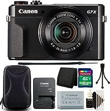 Canon G7X Mark II PowerShot 20.1MP Digital Camera (Black) + 8GB Memory Card + Wallet + Case + 3pc Cleaning Kit + Mini Tripod