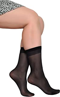 7ea42f8a1 Women's Ankle High Sheer Socks 5 Pairs