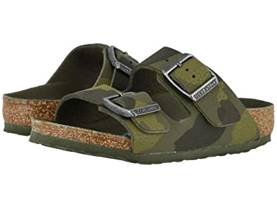 Birkenstock Kids Arizona (Toddler/Little Kid/Big Kid) (Camo Green Birko-Flortm) Kids Shoes