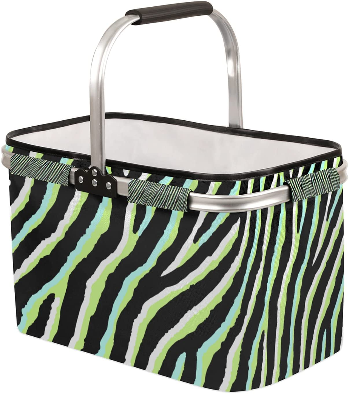 Collapsible Market Basket with Strong Free Large-scale sale shipping Frame Handle Aluminum Soft