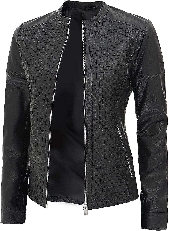 Sacramento Mall Women Leather Manufacturer OFFicial shop Jacket Black Real Jackets Brown Lambskin