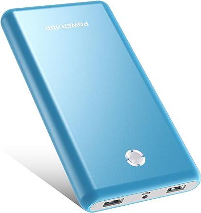 Poweradd Pilot X7 20000mAh モバイルバッテリー 持ち運び充電器 大容量 PSE認証済 iPhone&Android対応 災害/旅行/アウトドア活動用に最適(ブルー)