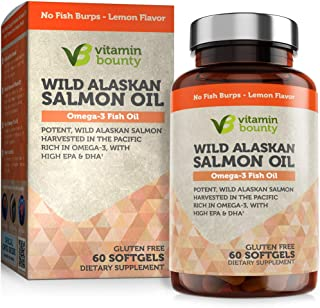 Sponsored Ad - Omega 3 Fish Oil From Wild Alaskan Salmon - The Best & Purest Kind of Fish Oil - High in EPA, DHA, Omega 3,...