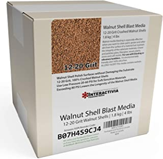 1.8 kg or 4 lb Ground Walnut Shell Media Abrasive 12-20 Grit for Tumbling, Vibratory or Blasting …