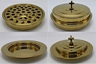 Brasstone-Stainless Steel Communion Tray Set and Bread Tray Set
