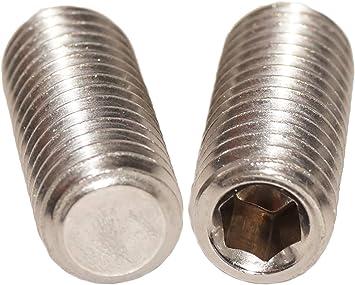 10 St/ück - Madenschrauben DIN 913 Edelstahl A2 V2A ISO 4026 Gewindeschrauben M3 x 3 mm Gewindestift mit Innensechskant und Kegelkuppe Eisenwaren2000 rostfrei