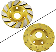 "OCR 4"" Concrete Turbo Diamond Grinding Cup Wheel Three Row Turbo Cup Disc Grinder.."