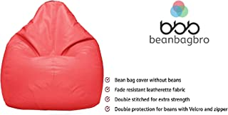 Bean Bag Bro USA Based Jumbo SAC Bean Bag Elegant Pink Indoor-Outdoor Best Bean Bag Chair for Kids-Only Cover/Without Fillers