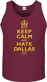 Smack Apparel Washington Football Fans. Keep Calm and Hate Dallas Maroon T-Shirt (Sm-5X)