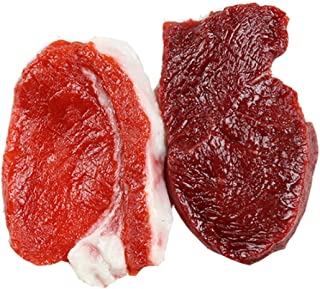 Skyseen 2Pcs Real Looking Handcrafted Fake Food Meat - Artificial Pork Steak Raw Beef for Display Prop
