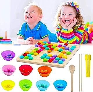 Trä clip pärlor brädspel, utbildande pussel brädspel, trä go spel set, trä good spel set, Montessori pedagogiska träleksak...