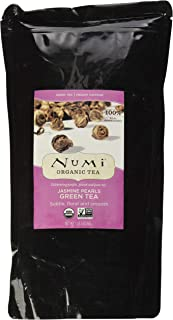 Numi Organic Tea Jasmine Pearls, 16 Ounce Pouch, Loose Leaf Green Tea (Packaging May Vary)