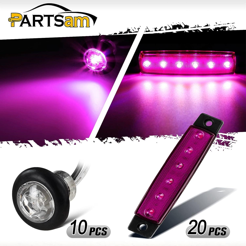 Partsam Finally popular brand Challenge the lowest price of Japan Purple Led Lights Kit 20PCS 6 LED Side 3.8 Inch