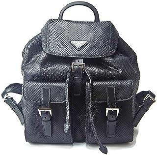 88015b3d1ad9 Prada Impossible To Find Black Genuine Python Snake Skin Backpack Purse Bag  - Current Season Sold