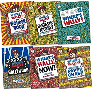 Where is Wally Collection with Bag! Where's Wally? Where's Wally Now? Where's Wally? The Fantastic Journey Where's Wally? In Hollywood, Where's Wally? The Wonder Book, Where's Wally? The Great Picture Hunt!, Where's Wally? The Incredible Paper Chase
