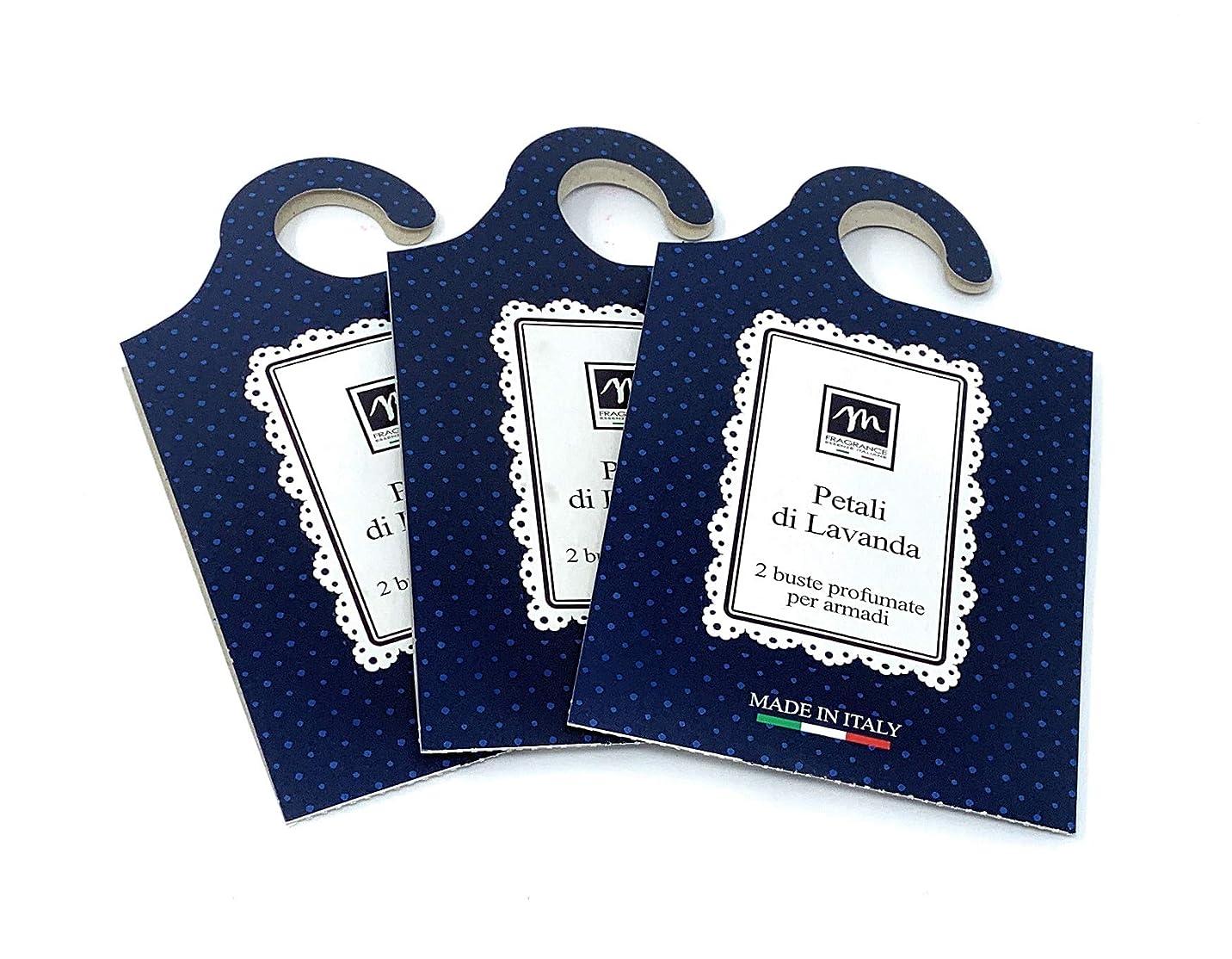 泥だらけグローブ影響力のあるMERCURY ITALY 吊り下げるサシェ(香り袋) MAISON イタリア製 ラベンダーの花びらの香り/Petali di Lavanda 2枚入り×3パック [並行輸入品]