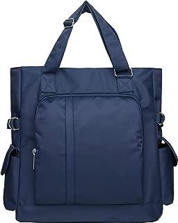 Waterproof Nylon Multi-pocket Tote Shoulder Bags Travel Laptop Briefcase Teacher Work Purse and Handbags for Women & Men