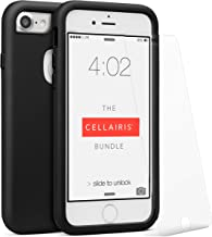 The Cellairis Bundle, Cell Phone Case for Apple iPhone 7 (Black), Tempered Glass Screen Protector for Apple iPhone 7, Scratch and Resistant, Soft Feel by Cellairis