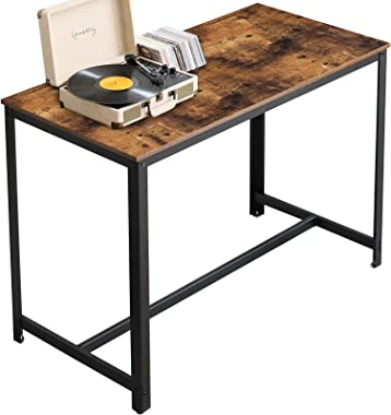 YMYNY Industrial Bar Table, Kitchen Dining Table, Homeoffice Desk with Metal Frame, 47.2 x 23.6 x 35.6 Inches for Living Room, Dining Room, Rustic Brown UTMJ013H