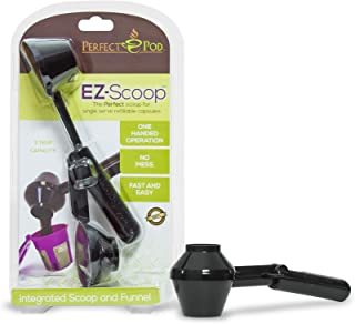 Perfect Pod EZ-Scoop | 2-in-1 Coffee Scoop and Funnel for Single-Serve Refillable Capsules, 2 Tablespoon Portioned Coffee Scooper