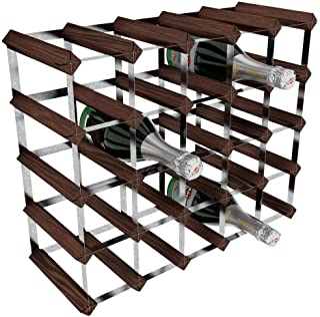 comprar comparacion RTA - Botellero de madera/acero galvanizado para 25 unidades, color Marrón