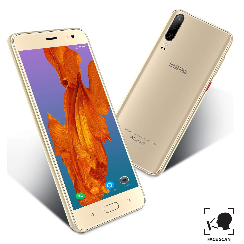Moviles Libres 5.5Pulgadas 4G Teléfono Móvil 16GB ROM Android 9.0 Quad-Core Smartphone Libres 4800mAh Batería Moviles Buenos Dual SIM 8MP Cámara (Oro): Amazon.es: Electrónica