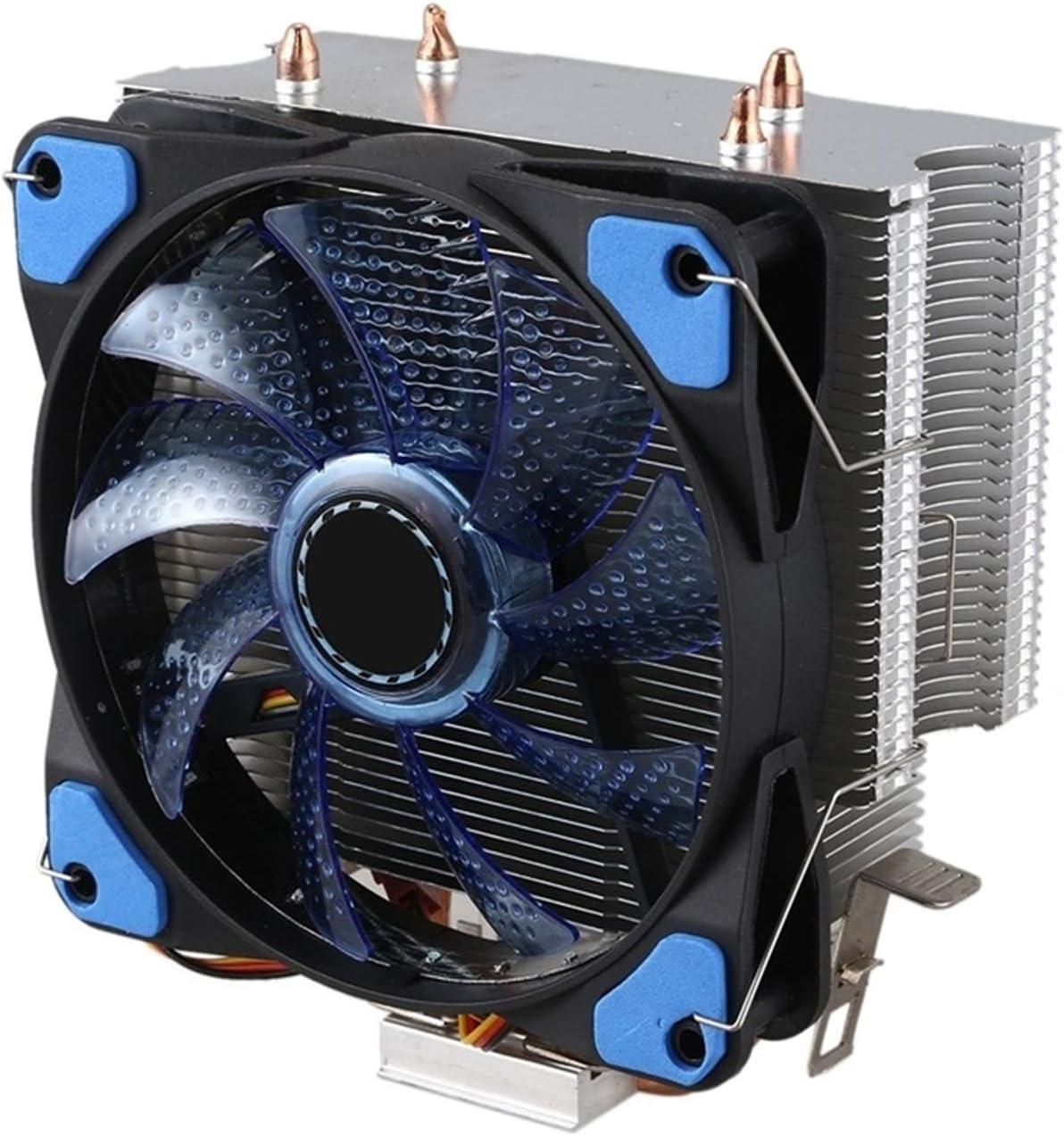 Tranquilo CPU Cooler 2 Sistema De Enfriamiento De La Torre De Calor De La Tubería De Calor De Cobre Puro 12CMCPU Ventilador De Enfriamiento Radiador De La CPU para AMD Fácil de Transportar e Instalar