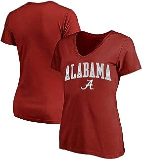 University of Alabama Women's Plus Size Crimson Tide Arch Logo V-Neck T-Shirt