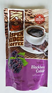 ASPEN RIDGE COFFEE MEDIUM ROAST, BLACKBERRY COBBLER 12 OZ.
