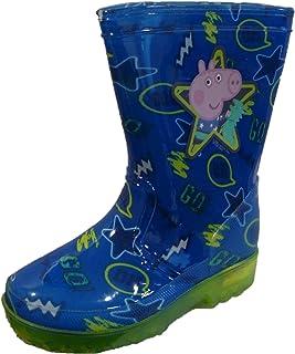 George Pig Dino GO - Botas de agua para niños con suela intermitente