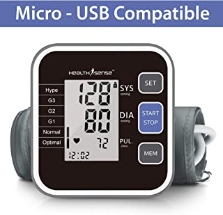 HealthSense Heart-Mate BP 120 Classic Fully Automatic Upper Arm Digital BP Monitor (Black/Grey)