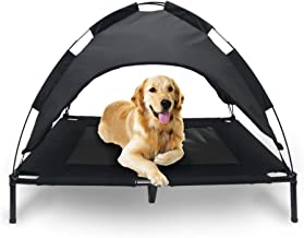 Mindful Grasshopper Elevated Dog Cot with Canopy Shade   Raised Breathable Bed for Cooling   Durable Chew Resistant Tent Construction   Indoor Outdoor Waterproof Pet Cots   Small Medium Large Sizes