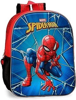Mochila 33cm frontal 3D Spiderman Black