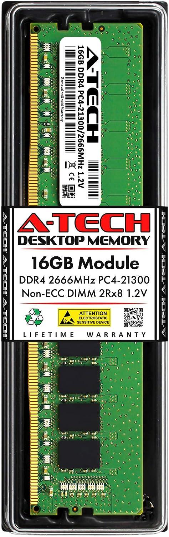 A-Tech 16GB Memory RAM for Dell OptiPlex 3050 SFF - DDR4 2666MHz PC4-21300 Non ECC DIMM 2Rx8 1.2V - Single Desktop Upgrade Module (Replacement for AA101753)
