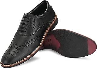 Fentacia Men Tan Formal Brogue Shoes