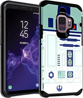Galaxy S9 Star Wars R2D2 Astromech Droid Robot Case, DURARMOR Dual Layer Hybrid ShockProof Slim Fit Armor Cover for Galaxy S9 (2018) Star Wars R2D2