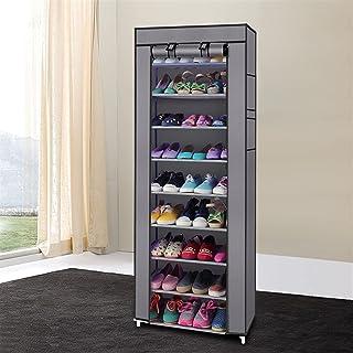 Organisateur de Rangement de Chaussures, Etagère à Chaussures, Tour d'Armoire À Chaussures, Support 58x29x160CM, Couvertur...