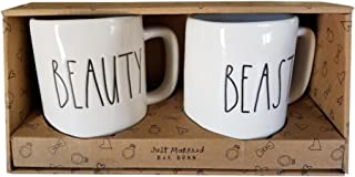RAE DUNN Mugs Beauty And Beast Set Magenta Just Married LL