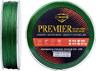 LEADTEAM Braided Fishing Line, Highly Wear Resistant 4-Strand Braided Wire,Lure/Stream/Boat Fishing, Thin Diameter/Zero Stretch/Zero Memory,300M/328YDS 20/30/50/100LB