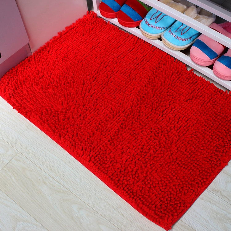 Chenille door door mats in the Hall bathroom non-slip mats Bathroom water-absorbing door mat  Bathroom mats Mat cushion-F 50x120cm(20x47inch)