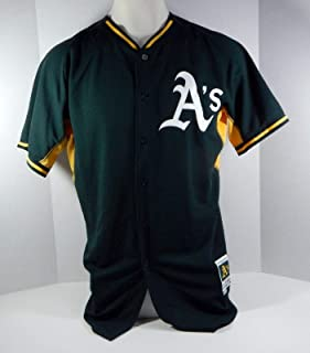 c07543266 2018 Oakland Athletics A s   Game Issued Green Batting Practice Jersey - Game  Used MLB Jerseys