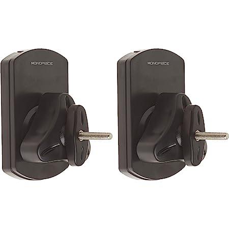 Monoprice Low Profile 22 lb. Capacity Speaker Wall Mount Brackets (Pair) Black